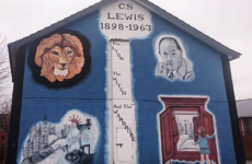 Double Take: The story behind these brightly-coloured CS Lewis murals in Belfast