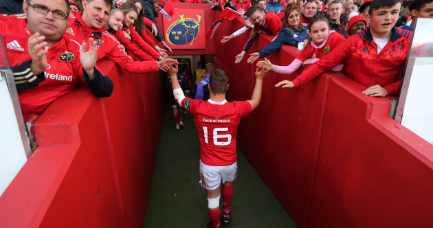 'I've been in complete awe. My Grandad told me about Munster but it's exceeded expectations'
