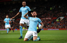 Brilliant Otamendi volley extends Manchester City's lead to 11 points in derby win