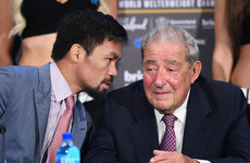 Arum dismisses Pacquiao-McGregor talk and 'welcomes' Dana White to boxing