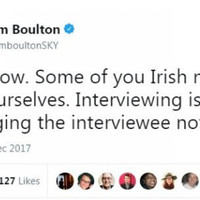 'I said some': Sky News presenter defends 'some of you Irish need to get over yourselves' comment