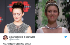 Billie Lourd paid tribute to her mother Carrie Fisher at the premiere of Star Wars: The Last Jedi