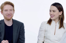 Domhnall Gleeson and Daisy Ridley answered the most searched questions about Star Wars and it was really sweet