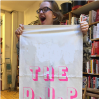 UK bookshop selling tea towels saying 'F*** the DUP'