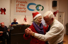 These elderly people got an early Christmas dinner this year