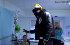Watch: NBA star LeBron James makes young fan's day in hospital