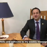 Leo Varadkar uploaded a video where he looked really small and people on Twitter found it very amusing