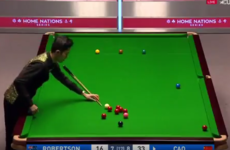 'That's a first' - Chinese player Cao Yupeng invents the one-handed snooker shot