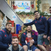 Munster players showed up to surprise an ill 6-year-old fan at his birthday party