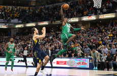 Steal and dunk in dying seconds ensures Celtics quash comeback and edge Pacers