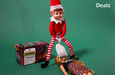 Dealz is getting just a *bit* risqué with these Elf on the Shelf Christmas ads