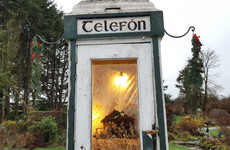 A photographer came across this tiny nativity in an old phonebox while passing through Roscommon