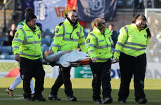 Celtic confirm that Ireland international Hayes has suffered a broken leg
