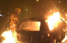 Dublin Fire Brigade crew have rocks thrown at them as they tackle car blaze in city centre