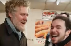 Glen Hansard was pulled into a singsong in a Westmeath chipper on St Stephen's night