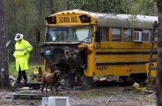 Two children found living in abandoned school bus in Texas