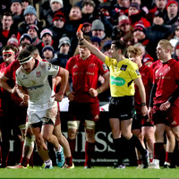 Munster centre Arnold faces ban after inter-pro red card
