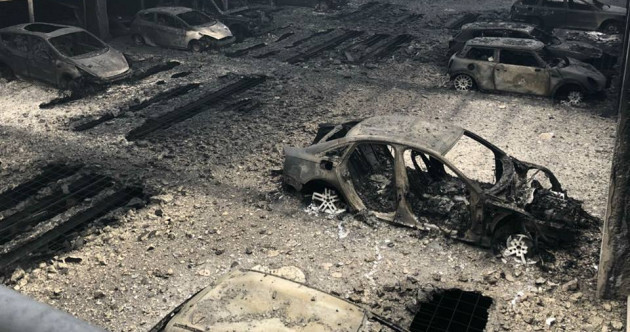 Incredible photos show aftermath of massive fire in Liverpool car park