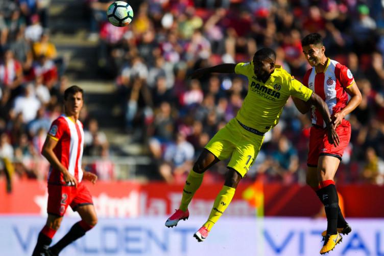Cedric Bakambu in action for Villarreal
