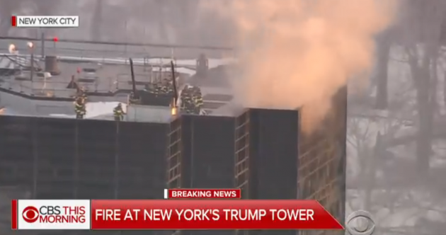 Two hurt as fire breaks out on roof of Trump Tower in New York
