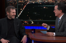 Liam Neeson was a typical da when talking about his Kindle on the Late Show with Stephen Colbert