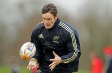 He's back: Wallace in Munster squad for Aironi trip