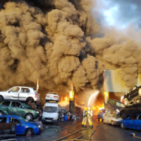 Giant blaze at Dublin metal plant now under control