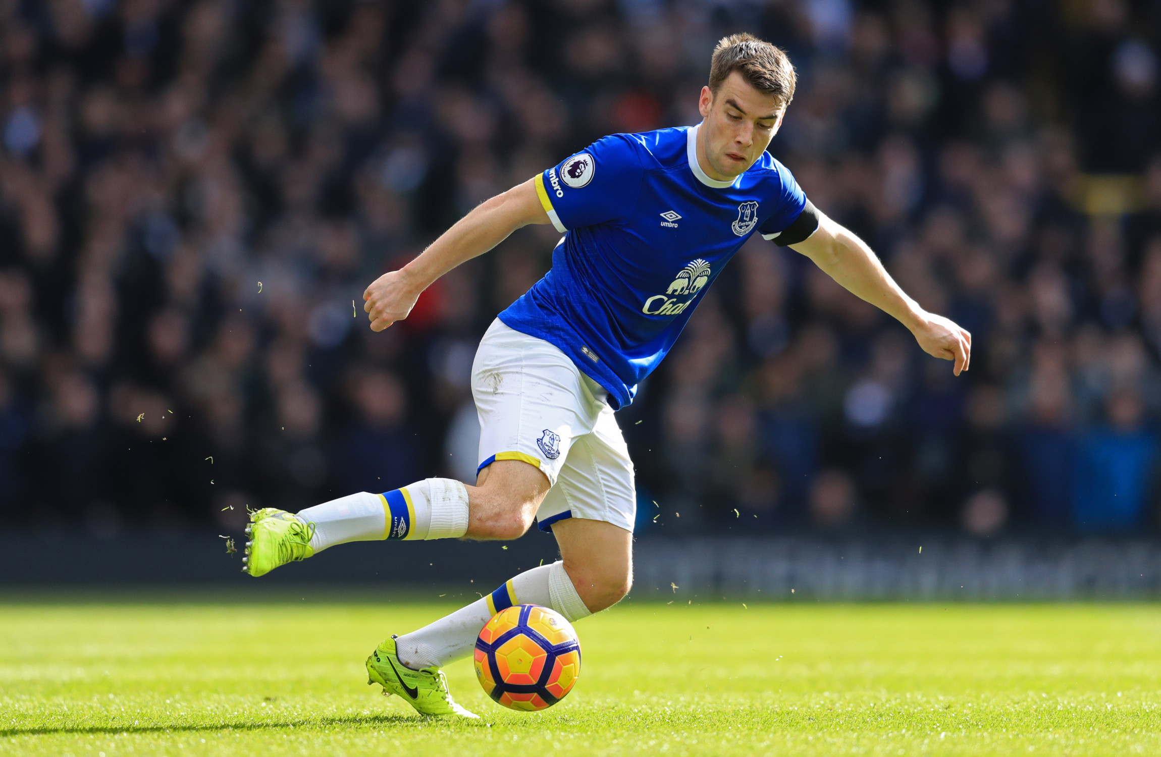 Seamus Coleman is back full training with Everton