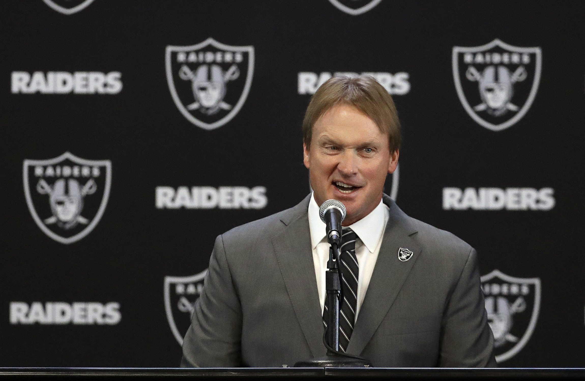 Jon Gruden will bring his new team to London in 2018.                     Image Marcio Jose Sanchez  PA Images