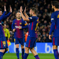 Messi inspires rout with Coutinho watching on as holders Barcelona book quarter-final spot