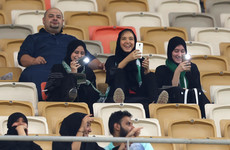 Women attend football match for first time ever in Saudi Arabia