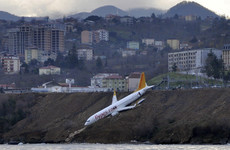 Turkish plane comes just metres from skidding into the sea