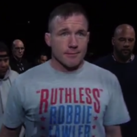 The UFC paid an emotional tribute to a legendary former champion last night