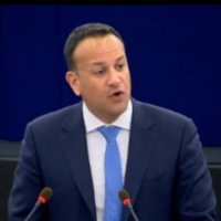 Speaking English, Irish, French and German, Leo sets out stall on Brexit in big EU speech