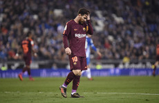 Missed Messi penalty proves costly as Barcelona's 29-game unbeaten run ends