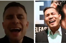 Carl Frampton's war of words with Nonito Donaire heats up as fighters exchange...songs?
