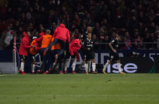 Atletico Madrid conceded a brilliantly-worked team goal after just 24 seconds last night