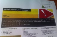The bank formerly known as Anglo sends fraud newsletter to staff