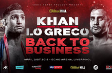 Amir Khan will face Canadian Phil Lo Greco in his comeback fight