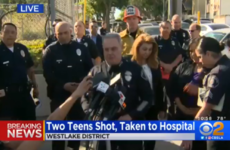 A 12-year-old girl has been arrested after a school shooting in LA