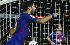 Suarez header gives Barcelona the edge in Copa del Rey semi-finals