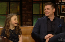Brian O'Driscoll took his little pal from Temple Street on the Late Late, and she was an absolute star