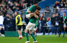 Stunning Johnny Sexton drop-goal steals Paris win for Schmidt's Ireland