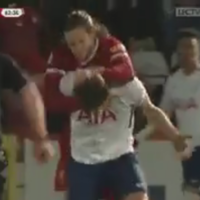 Adam Lallana completely lost it in a Liverpool U23 game last night