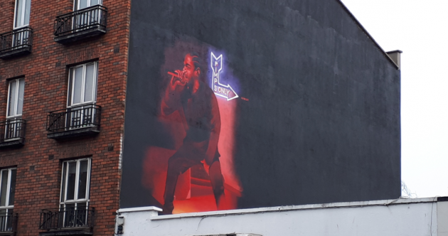 This deadly mural of Kendrick Lamar popped up on Aungier Street overnight