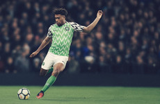 Nigeria's new home kit will certainly stand out at this summer's World Cup