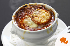 'There is simply nothing more warming than a French onion soup'