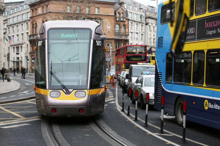 The Luas Cross City has been running since December.