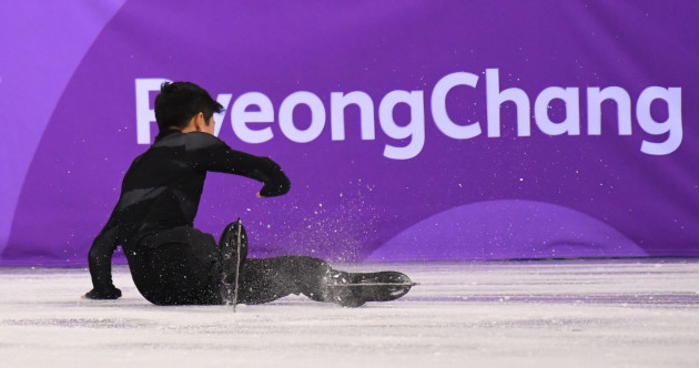 'A disaster': America's figure skating superstar was on his arse on his Olympic debut