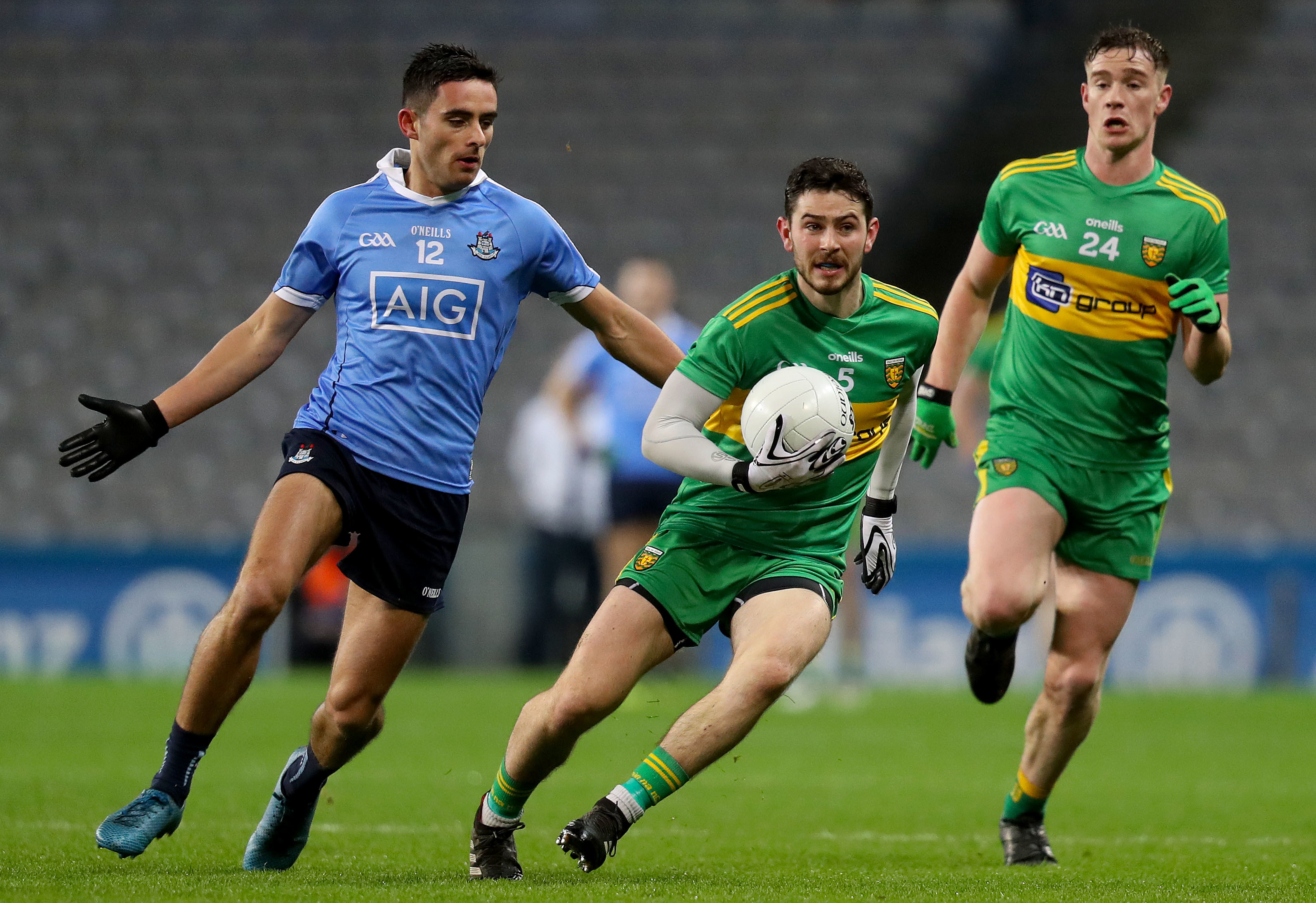 Dublin's Niall Scully and Donegal's Ryan McHugh.